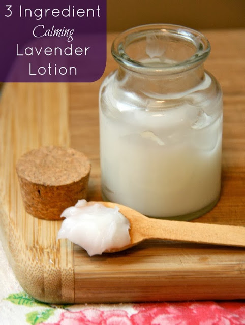 Homemade Three Ingredient Calming Lotion